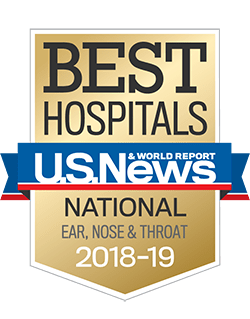 US News & World Report Best Hospital 2018-2019 for ENT