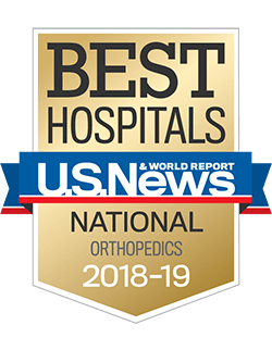 US News & World Report Best Hospital 2018-2019 for Orthopaedics