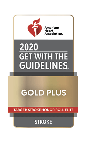 American Heart Association 2020 Get with the Guidelines Gold Plus | Target: Stroke Honor Roll Elite