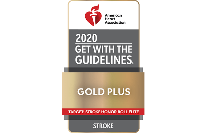 American Heart Association 2020 Get with the Guidelines Gold Plus Target: Stroke Honor Roll Elite