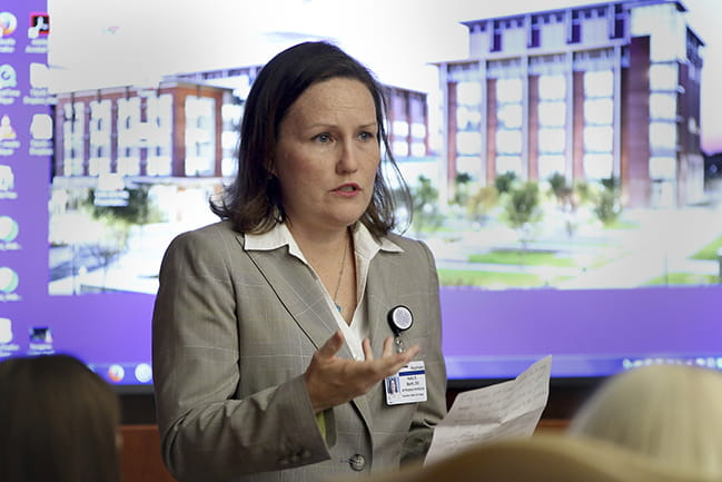 Kelly Barth, D.O., pictured above, is a psychiatrist and internal medicine physician at MUSC Health who concentrates her efforts on the management of patients taking opioid medications for chronic pain.