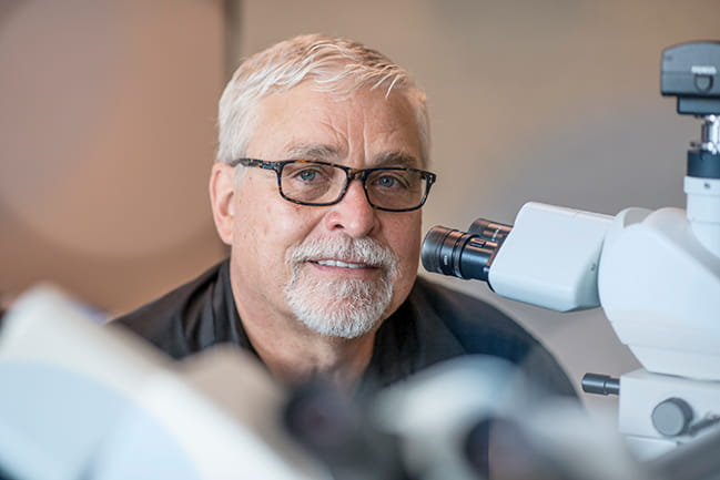 Michael C. Ostrowski, Ph.D., pictured above, is a professor in the Department of Biology at MUSC and a member of the MUSC Hollings Cancer Center.