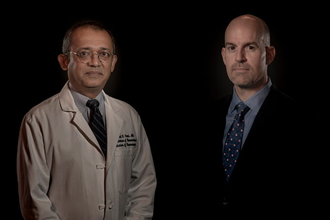 ZIAN Founder Dr Sunil Patel (left) and ZIAN CEO Mark Semler (right)