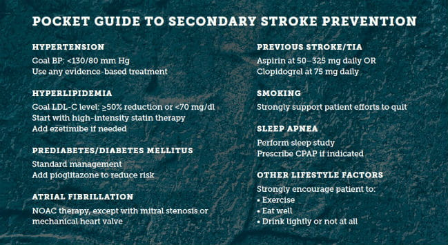 Pocket Guide to Secondary Stroke Prevention