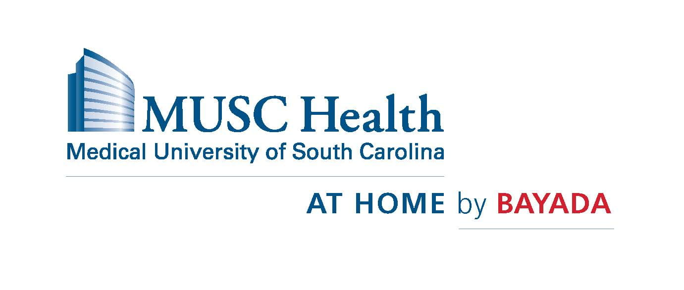 MUSC Health Logo with At Home By Bayada lock-up