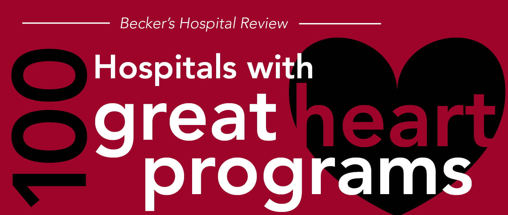 becker's hospital review 100 hospitals with great heart programs image