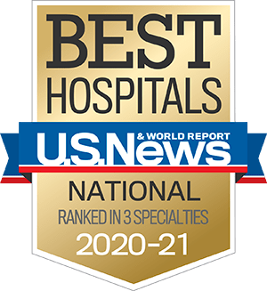 Best Hospitals U.S. News & World Report National Ranked in 3 Specialties 2020 - 2021