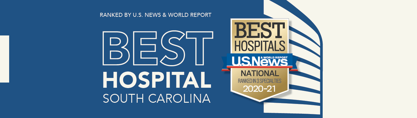 Ranked by U.S. News & World Report Best Hospital South Carolina hero image