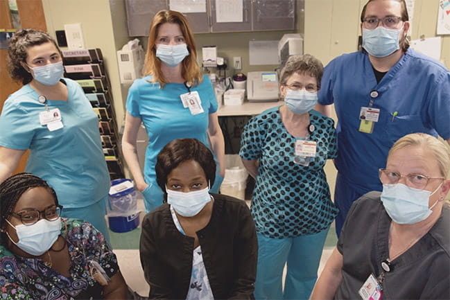 Image of MUSC care team members in masks