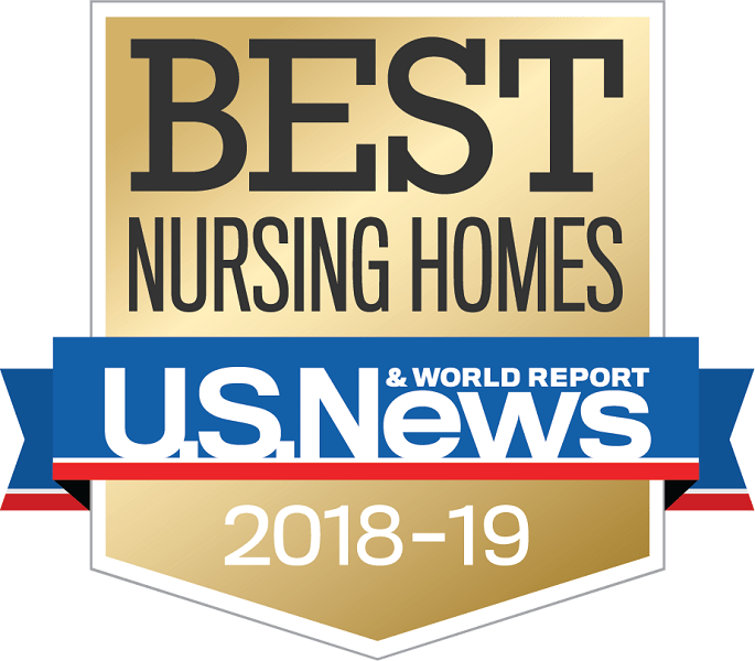 U.S. News and world reports best nursing homes award for 2018 and 2019