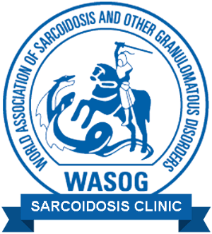 Logo for the World Association of Sarcoidosis and other granulomatous disorders WASOG Sarcoidosis Clinic.