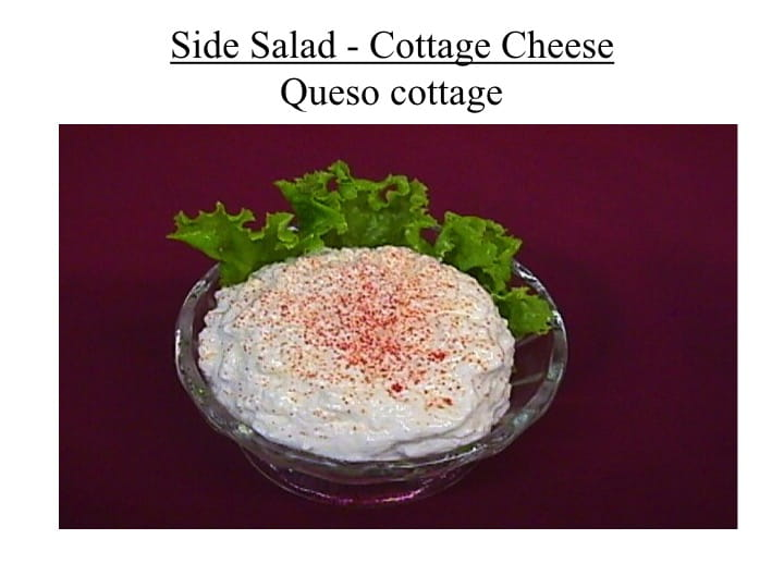 Side Salad Cottage Cheese