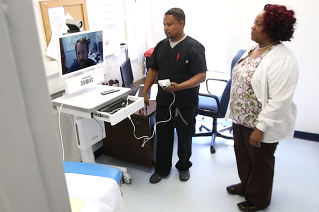 Providers connecting via telehealth from prison