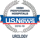 US News & World Report – High Performing Hospital 2018 to 2019 Urology