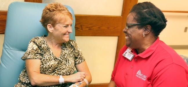 Volunteer Toni and Hollings Cancer Center Patient