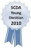 SCDA Young Dietician of the Year 2010 award ribbon