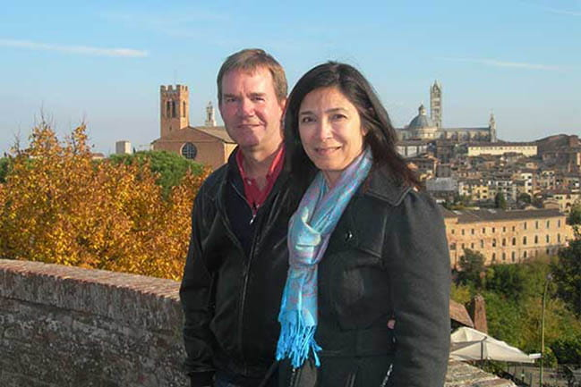 Dr, Swift and wife Alisa in Siena, Italy