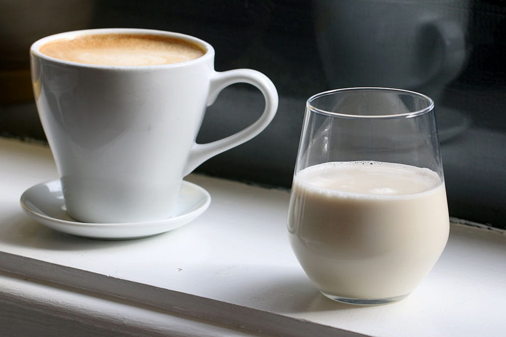 Coffee and oat milk