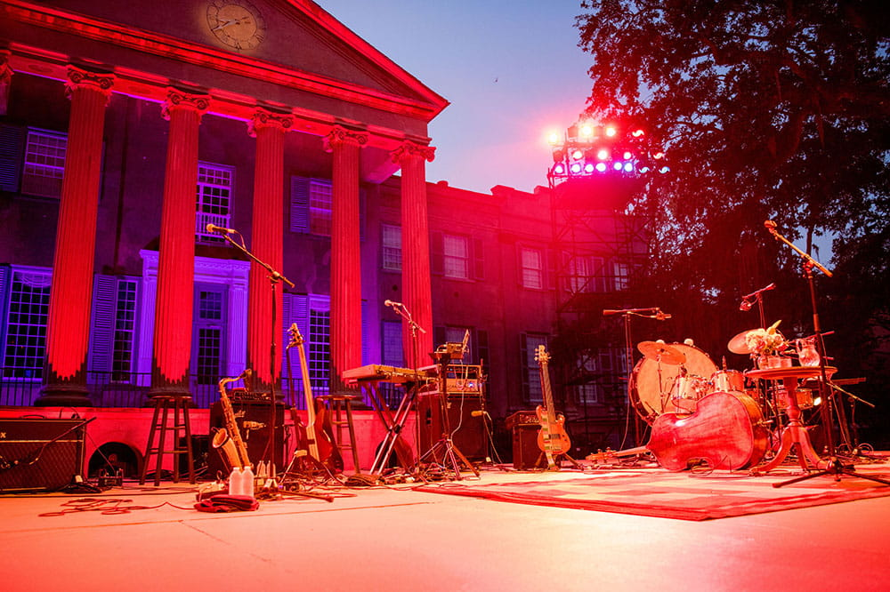 College of Charleston stage for Spoleto Festival.